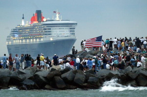 The Queen Mary II Concludes Trans-Atlantic Cruise In Florida